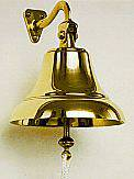 Brass Ships Bell  7 in. - Swivel Mount