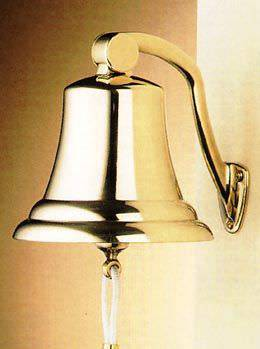 Brass Ships Bell with Knuckle 7 in.