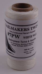 Whipping Twine - Waxed Spool of Twine & Needle 4 oz.