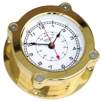 Trintec Odyssey Nautical Clock Solid Brass