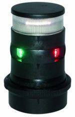 Aqua Signal Series 34 LED Tri Color Anchor Light with Quicfits System - Black