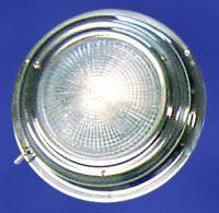 Victory Dome Light Stainless - Halogen Red/white Bulb 4in