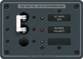 Blue Sea 8029 AC Main 30A & 1 Position - Traditional Metal Panel