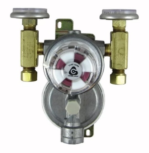 Trident Marine LPG Regulator Wall Mount 2 Stage with Gauge 1230-1411