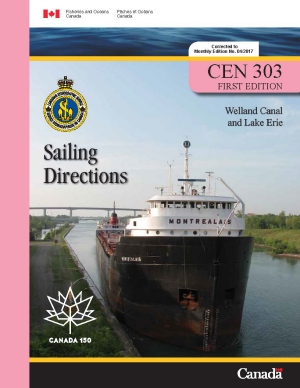 Sailing Directions Welland Canal and Lake Erie 1st Edition