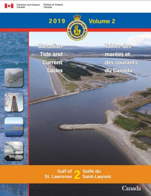 Tide Tables Volume 2 Gulf of St Lawrence 2019