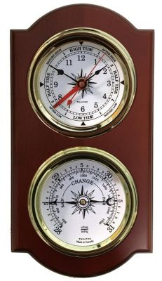 Trintec Euro Time & Tide Clock & Barometer Nautical Weather Station
