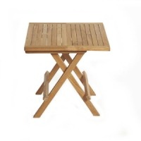 Teak Folding Side Table - Square